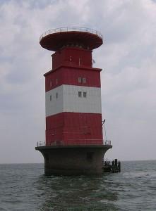 Leuchtturm-Mellumplate. Foto: Wikipedia