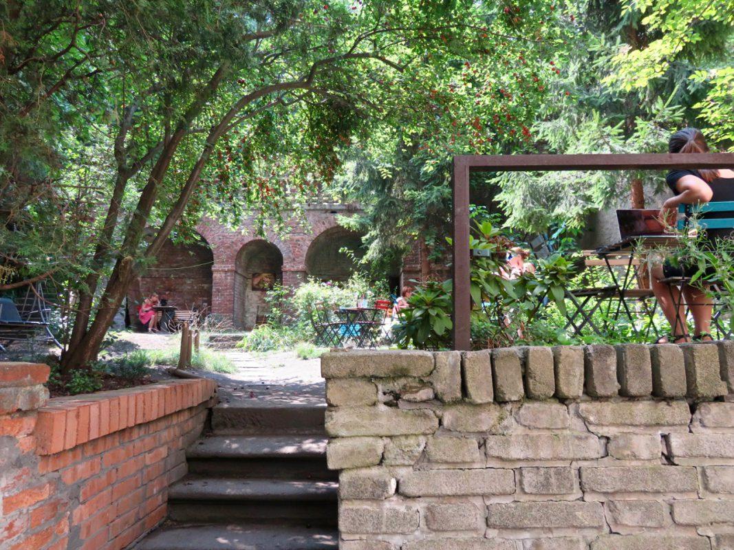 Café-Garten im Prag