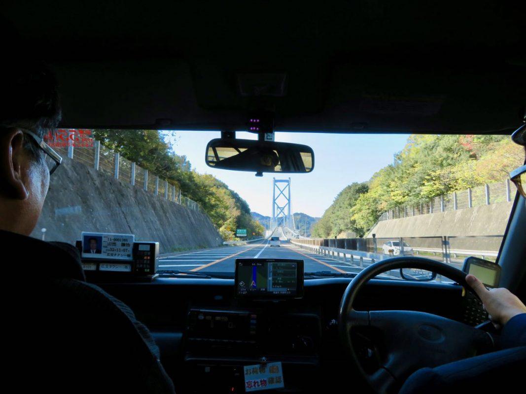 im Taxi nach Innoshima