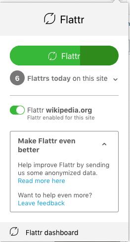 Flattr Browser-Erweiterung