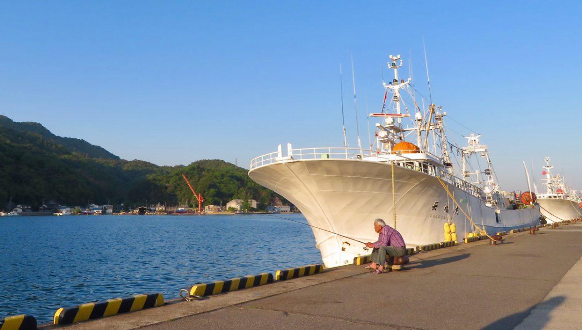 Schiff in Sakaiminato